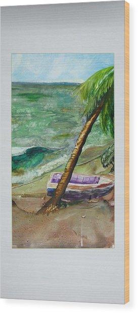 Caribbean Morning II Wood Print
