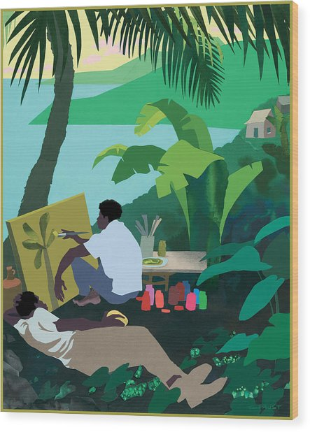 Caribbean Painter Wood Print