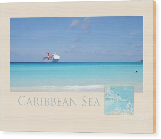 Caribbean Sea Wood Print