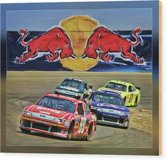 Carl Edwards Wood Print
