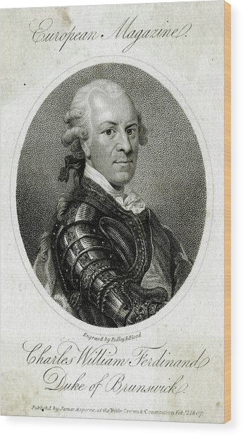 Carl Wilhelm Ferdinand Duke Wood Print by Mary Evans Picture Library