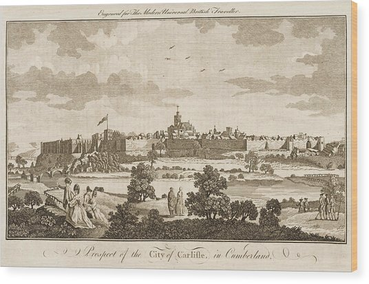 Carlisle, Cumbria, England     Date 1779 Wood Print by Mary Evans Picture Library