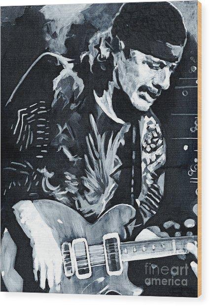 Carlos Santana - Black Magic Woman Wood Print
