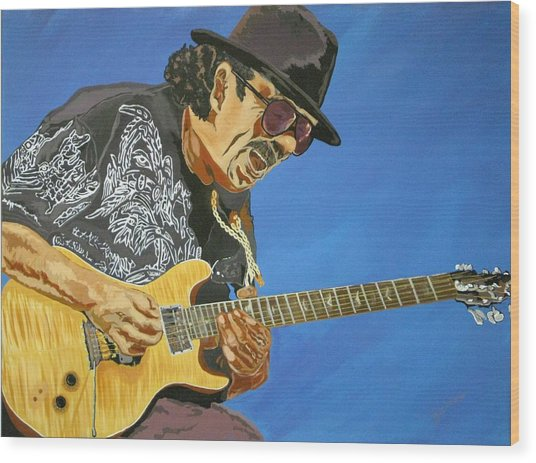Carlos Santana-magical Musica Wood Print