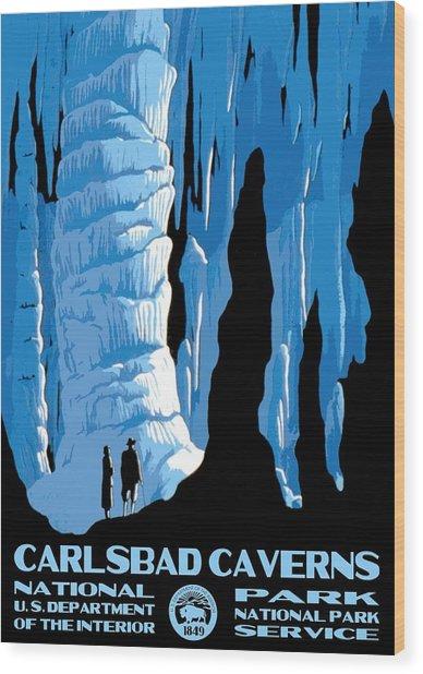 Carlsbad Caverns National Park Vintage Poster Wood Print