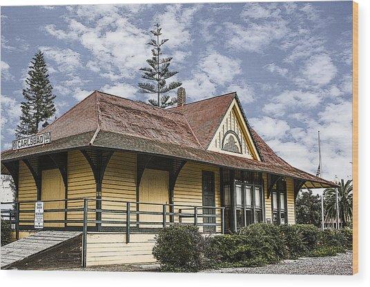Carlsbad Railroad Depot Wood Print