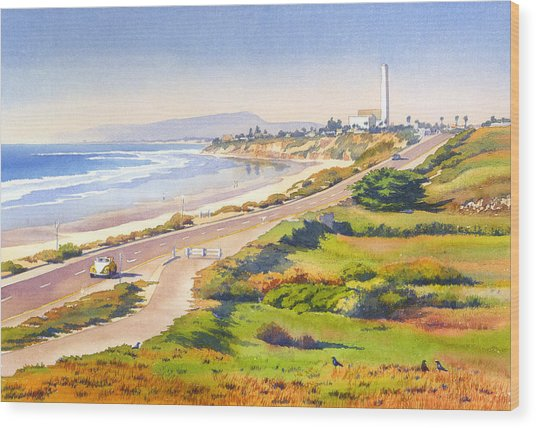 Carlsbad Rt 101 Wood Print