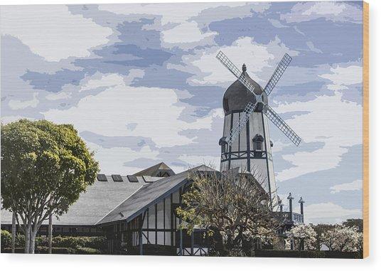 Carlsbad Windmill Wood Print