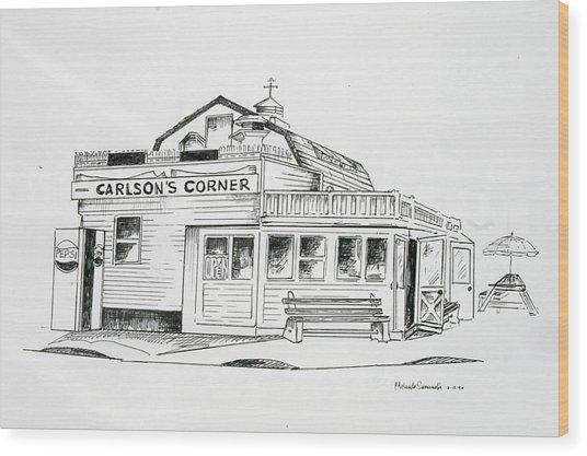 Carlsons Corner Manasquan Wood Print