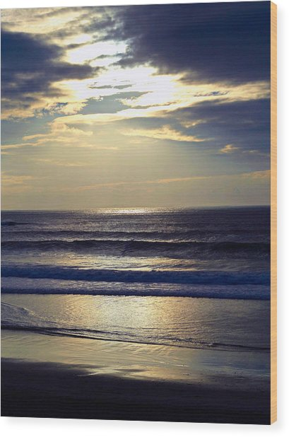Carmel Beach Sunset Wood Print
