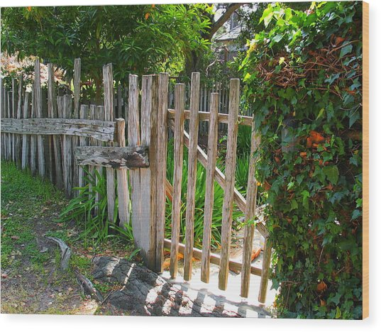 Carmel Gate Wood Print