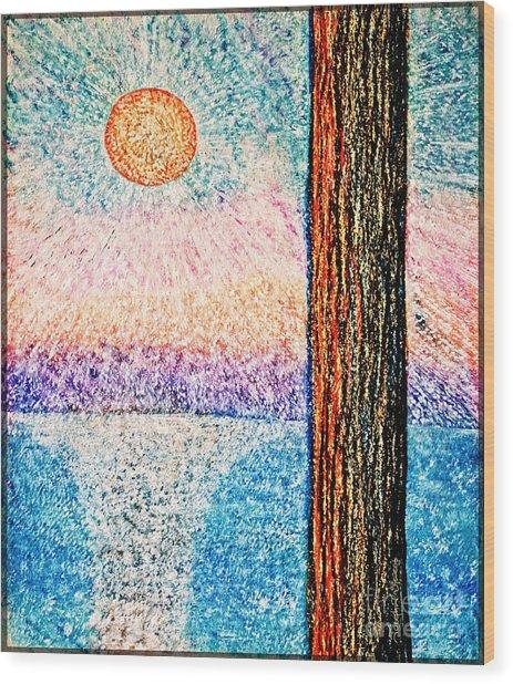 Carmel Highlands Sunset Wood Print