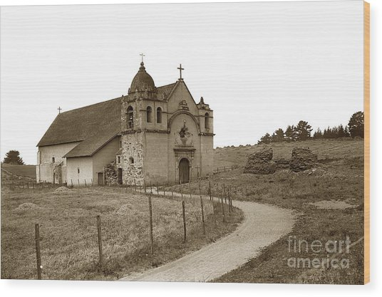 Carmel Mission Monterey Co. California Circa 1890 Wood Print
