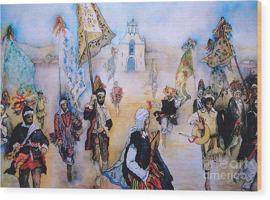 Carnaval In Chiapas II Wood Print