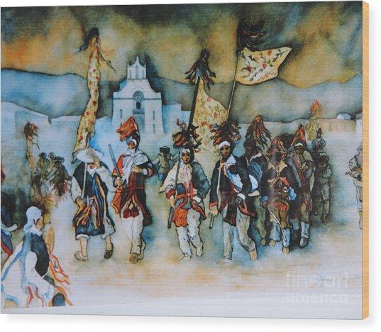 Carneval En Chiapas Wood Print
