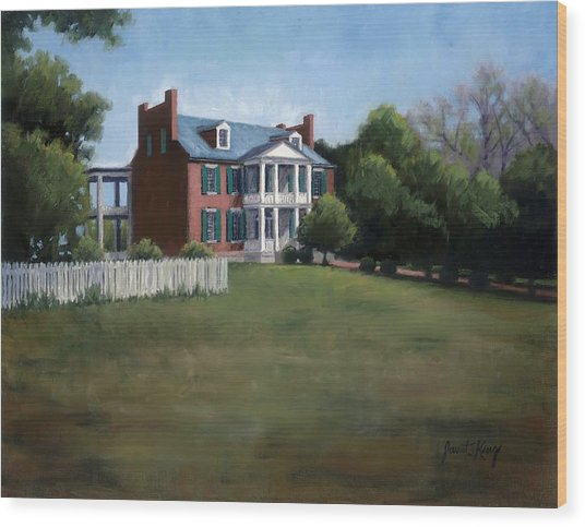 Carnton Plantation In Franklin Tennessee Wood Print