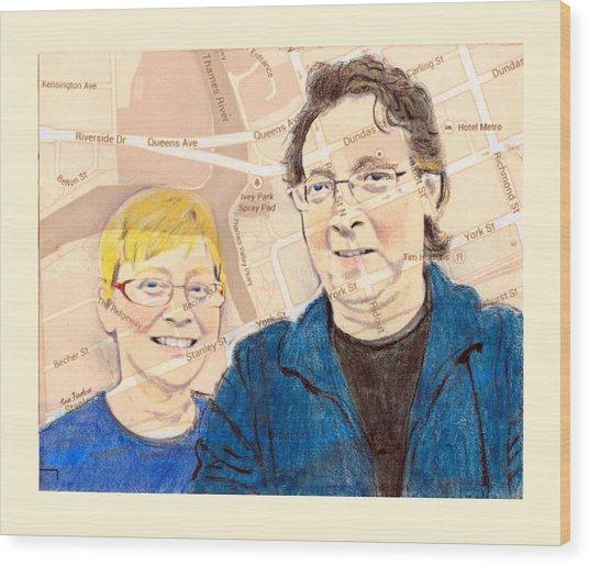 Carol And Gord Of London Wood Print