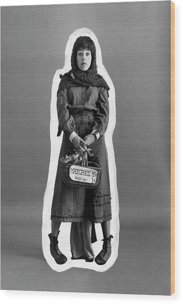 Carol Burnett Dressed As A Match-girl Wood Print by Leonard Nones