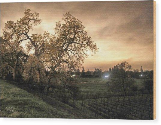 Carole's Vineyard Wood Print