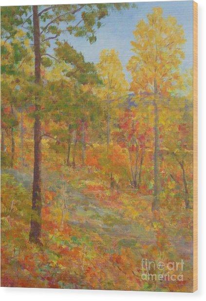 Carolina Autumn Gold Wood Print
