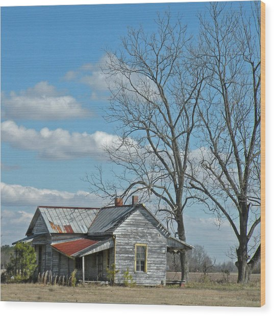 Carolina Farm House Wood Print