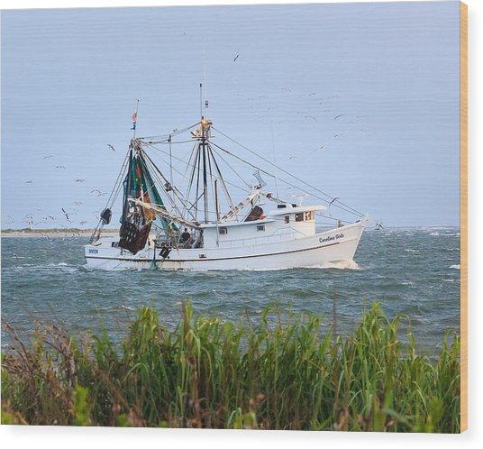Carolina Girls Shrimp Boat Wood Print