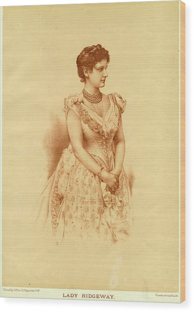 Caroline Lady Ridgeway  Wife Of Sir Wood Print by Mary Evans Picture Library