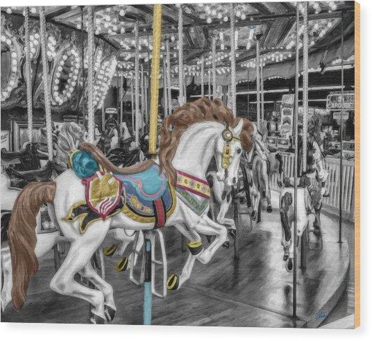 Carousel Horse Equ168125 Wood Print