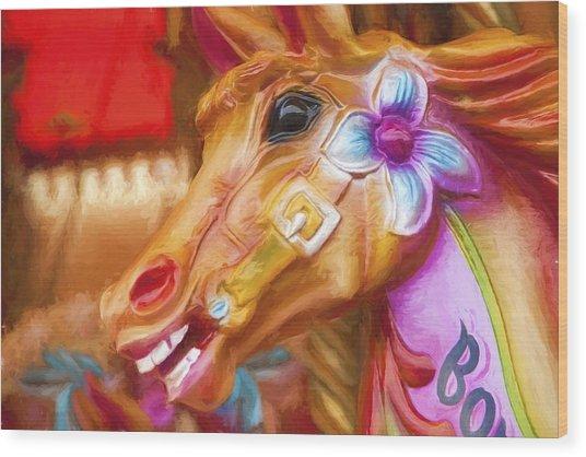 Carousel Horse. Wood Print