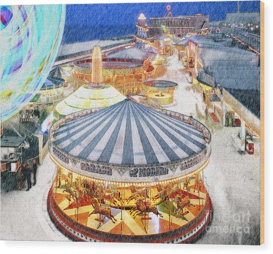 Carousel Waltz Wood Print