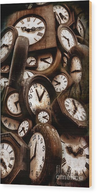 Carpe Diem - Time For Everyone Wood Print