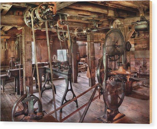 Carpenter - This Old Shop Wood Print