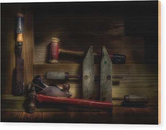 Carpentry Still Life Wood Print