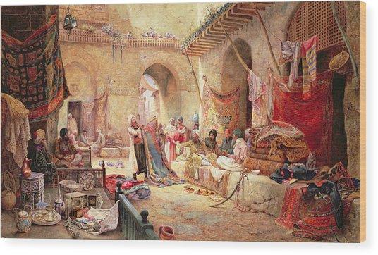 Carpet Bazaar, Cairo, 1887 Wood Print