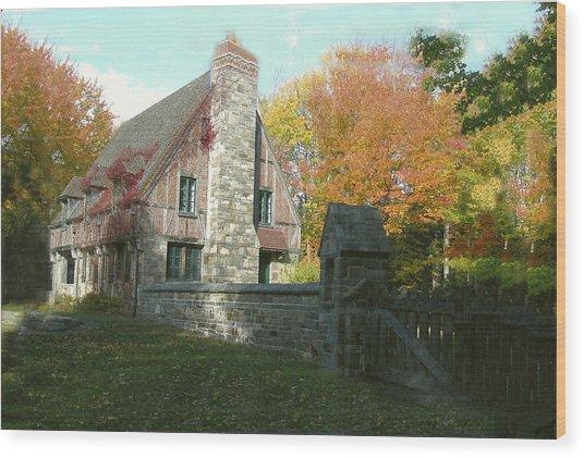 Carriage House Wood Print