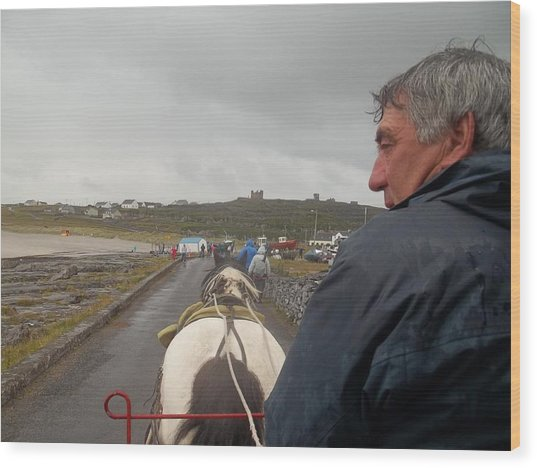 Carriage Ride On Inis Oirr Wood Print