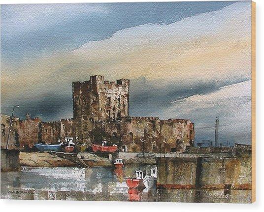 Carrickfergus Castle  County Antrim Wood Print