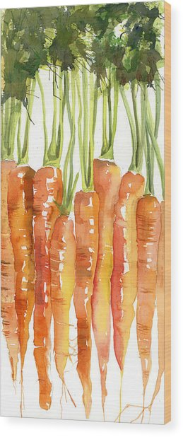 Carrot Bunch Art Blenda Studio Wood Print