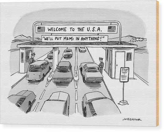 Welcome To The Usa Wood Print