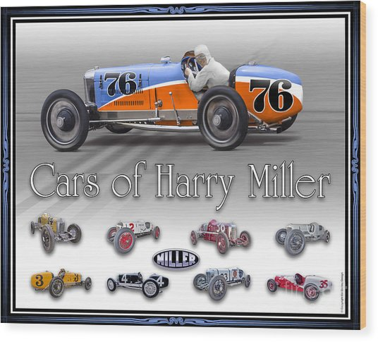Cars Of Harry Miller Wood Print