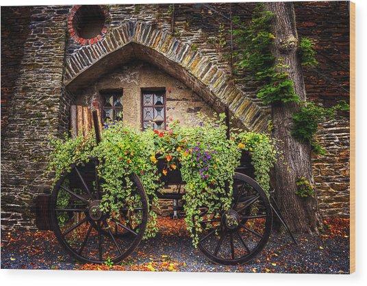 Cart Of Colors Wood Print