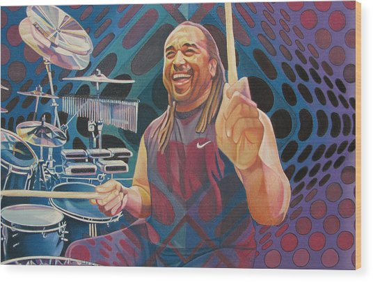 Carter Beauford Pop-op Series Wood Print
