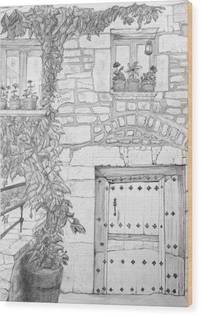 Casa Achon Wood Print