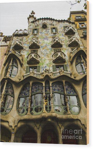 Casa Batllo Exterior Wood Print