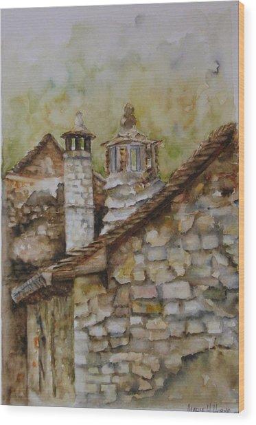 Casa En Alto Aragon Wood Print