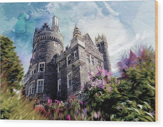 Casa Loma Series 08 Wood Print