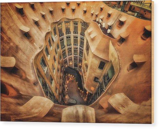 Casa Mila?, La Pedrera, Barcelona. Wood Print