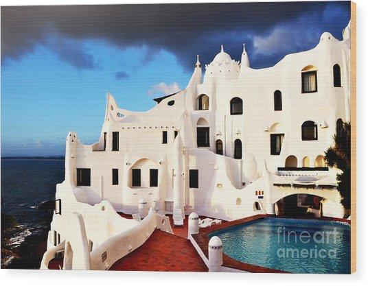 Casa Pueblo Al Mar Wood Print
