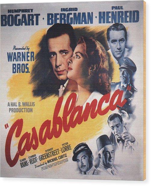 Casablanca In Color Wood Print