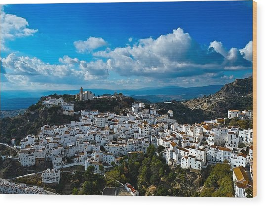 Casares In December Wood Print